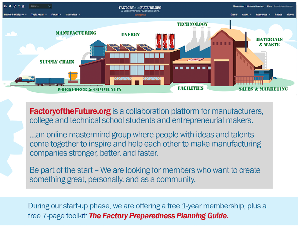 FactoryoftheFuture.org mission banner