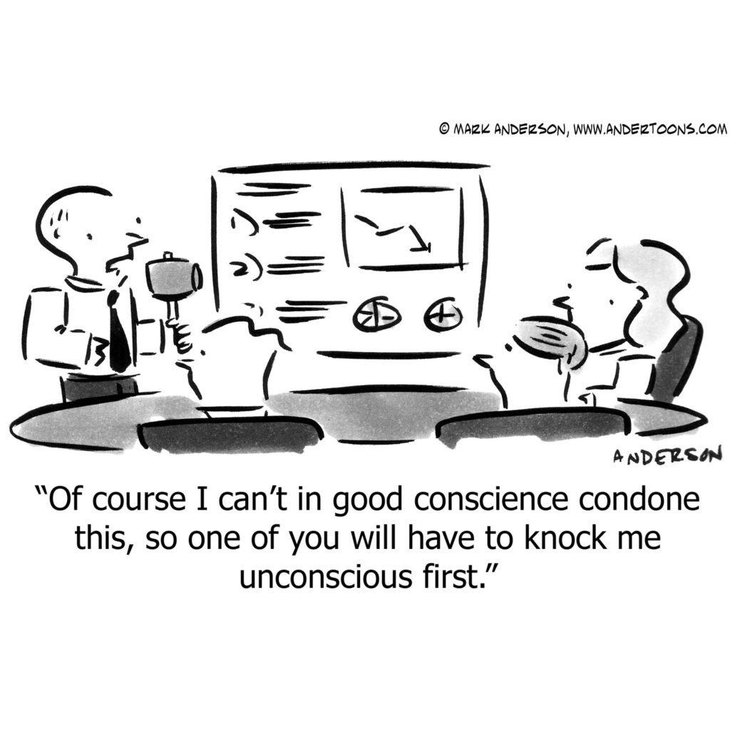 cartoon meeting of business people